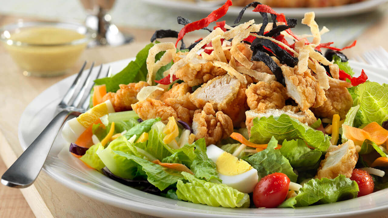 Lunch-dinner soups-salads crispy-chicken-salad