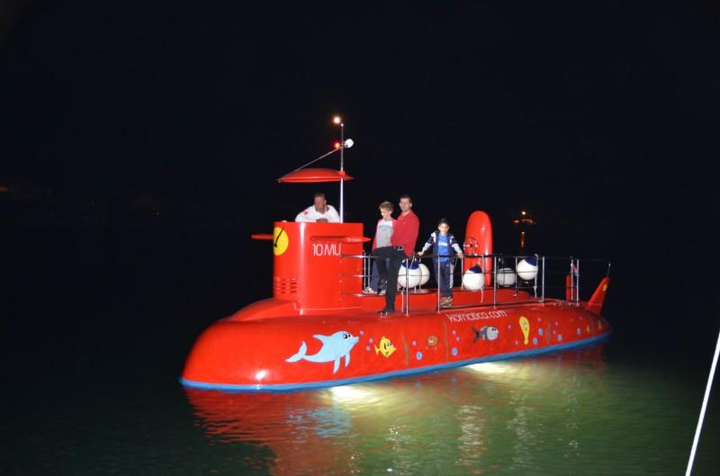 Razgledavanje podmorja iz polupodmornice