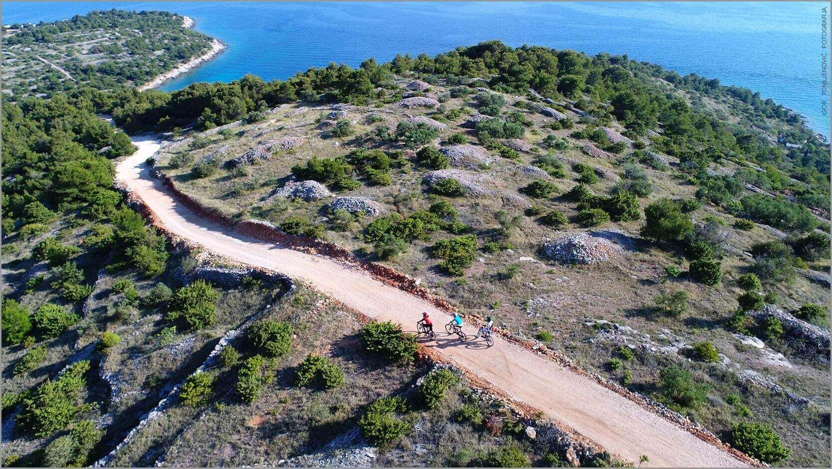 Biking on the island of Murter